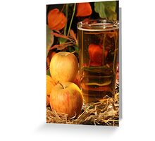 Glass of Cider Greeting Card