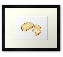 Daily cheese bread Framed Print