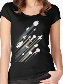 All over galaxy Women's Fitted Scoop T-Shirt