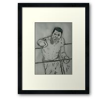 Muhammad Ali art Framed Print