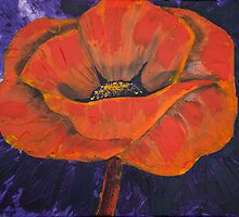 Orange poppy by bluegirldesign
