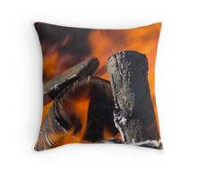 fire in the forest Throw Pillow