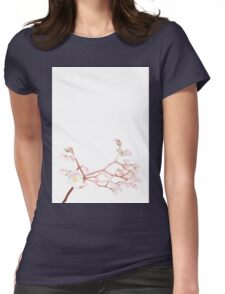 Cherry Blossom, Floral Print Womens Fitted T-Shirt