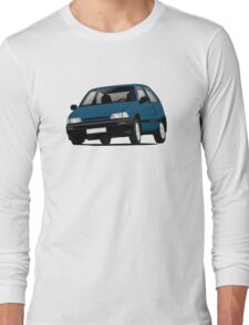 Daihatsu Charade GTti illustration, blue Long Sleeve T-Shirt