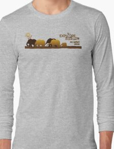 Explore Nature Echidna Walkabout On Safari 2016 Long Sleeve T-Shirt
