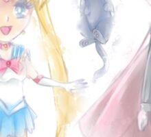 Sailor Moon & Tuxedo Mask Sticker - Sailor Moon Series Sticker