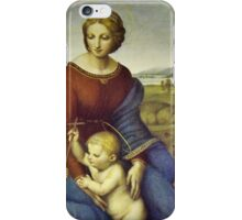 Madonna of the Meadows by Raphael iPhone Case/Skin