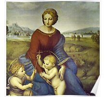 Madonna of the Meadows by Raphael Poster