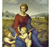 Madonna of the Meadows by Raphael Photographic Print