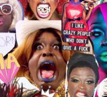 Bob the Drag Queen collage Sticker