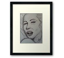 Marilyn Monroe art Framed Print