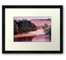 'Pastel River' Framed Print
