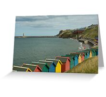 SEASIDE HUTS Greeting Card