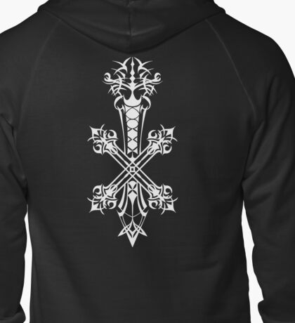 Blood Sin / Inverse Rood of Yocus (White), Vagrant Story Zipped Hoodie