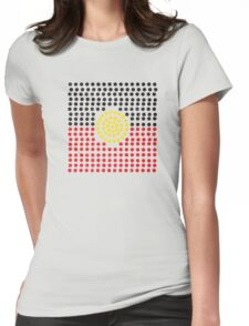 Aboriginal flag Womens Fitted T-Shirt