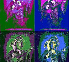 Indian Warrior Pop Art by Icarusismart