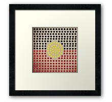 Aboriginal flag Framed Print