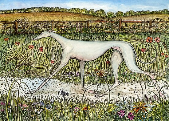 The Incomparable Grace of a Greyhound by Elle J Wilson