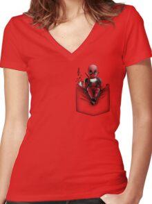 Ugly Pocket Women's Fitted V-Neck T-Shirt