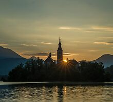 Lake Bled at Sunrise by Nick Jenkins