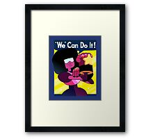 """We"" Can Do it! // Garnet Steven Universe Poster Framed Print"