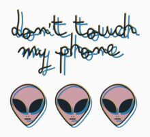 Don't Touch My Phone // Alien 3D Vaporwave Indie One Piece - Short Sleeve