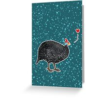 Guinea Fowl love Greeting Card