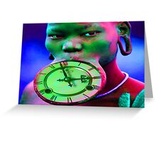 The illusion of Time Greeting Card