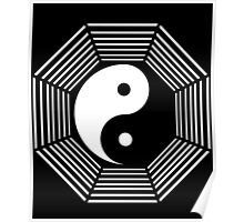 yin yang octagon symbol Poster