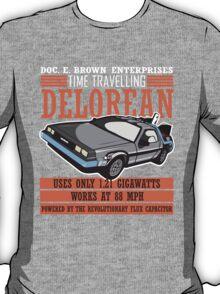 Back to the Future - Doc Brown Delorean Time Machine T-Shirt