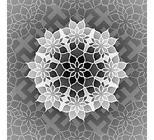 Octagonal Floral Mandala Sayagata Layered 2 Photographic Print