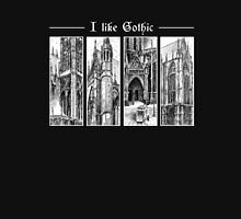 "Ink graphic ""I like gothic"" - for dark background Unisex T-Shirt"