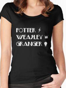Potter, Weasley, Granger Women's Fitted Scoop T-Shirt