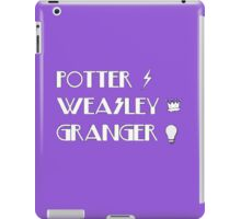 Potter, Weasley, Granger iPad Case/Skin