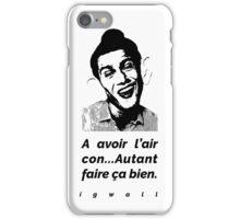 AVOIR L'AIR CON - IGWALL iPhone Case/Skin