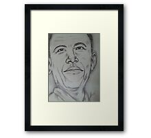 Barack Obama portrait Framed Print