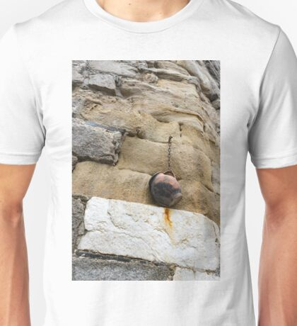 The Hanging Jar - Rough Weathered Stones, Rust and Ceramics - a Vertical View Unisex T-Shirt