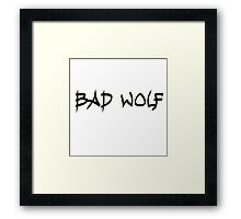 Doctor Who Bad Wolf Framed Print