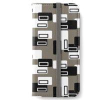 Retro Rectangles Mono iPhone Wallet/Case/Skin