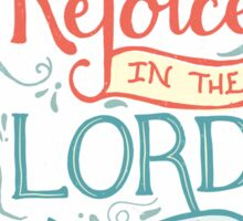Rejoice in the Lord Sticker