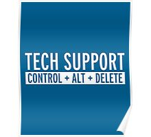 Tech Support Funny Quote Poster