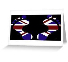 UK Footprints Greeting Card