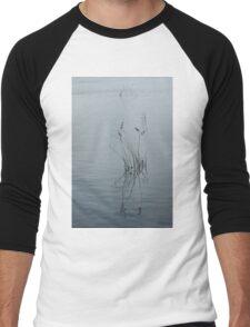 Graphical Watergrass Reflections Men's Baseball ¾ T-Shirt