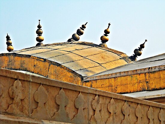 Agra Fort Roof © by Ethna Gillespie