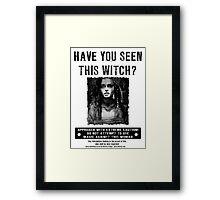 Wanted - Bellatrix Lestrange Framed Print
