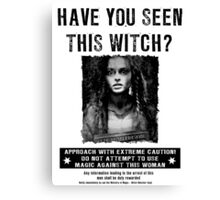 Wanted - Bellatrix Lestrange Canvas Print