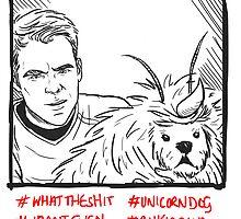 Kirk Meets UnicornDog by little-smartass