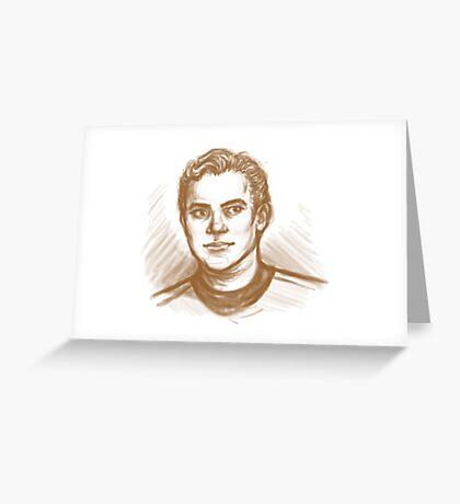 TOS Kirk Greeting Card