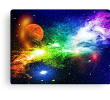Out for a walk around the galaxy Canvas Print