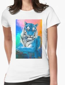 Blue Tiger Womens Fitted T-Shirt